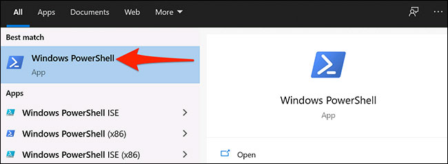 "Launch ""Windows PowerShell"""
