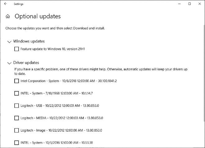 Tính năng Optional update của Windows 10 đã bị hỏng 1 năm nay nhưng Microsoft mặc kệ?