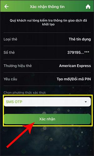 Cách đổi mã pin thẻ ATM Vietcombank