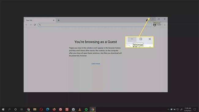 Cách thu nhỏ màn hình trong Windows 10