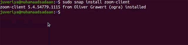 Cài đặt ứng dụng Zoom bằng lệnh snap