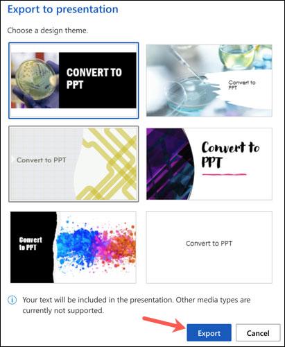 Cách chuyển đổi, xuất file tài liệu Word thành bài trình chiếu PowerPoint - Ảnh minh hoạ 3