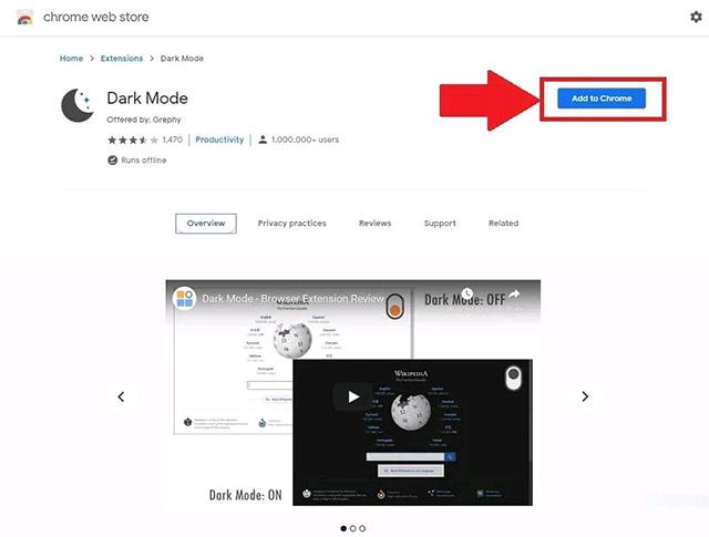 "Nhấn nút ""Add to Chrome"""