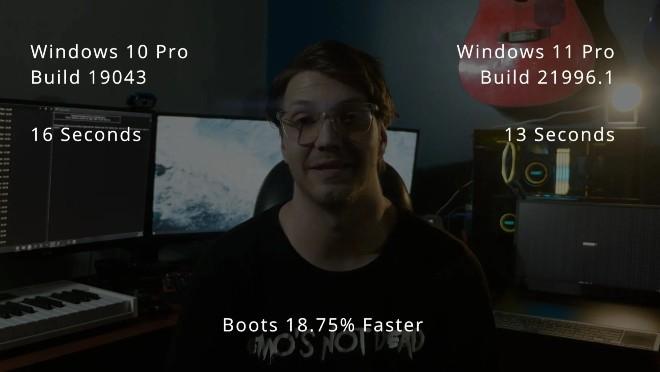 Windows 11 khởi động nhanh hơn Windows 10 18,75%