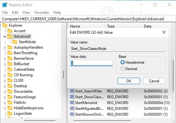 5 mẹo tùy chỉnh giao diện Windows 11 với Registry