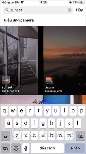 Cách tải filter Sunset hoàng hôn trên Instagram - Ảnh minh hoạ 4