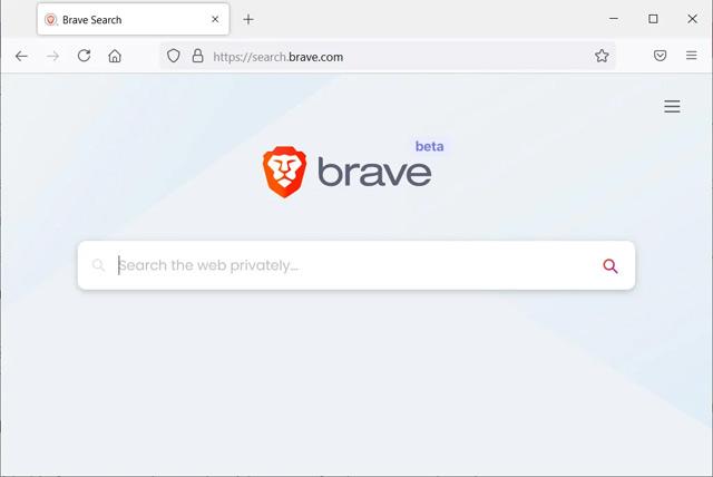 Brave Search phiên bản beta.