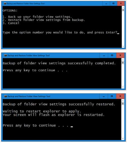 Cách sao lưu và khôi phục cài đặt chế độ xem thư mục trong Windows 10