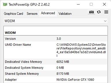 Windows 11 supports WDDM 3.0