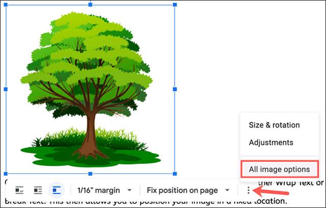 Cách cố định vị trí của hình ảnh trong Google Docs - Ảnh minh hoạ 5