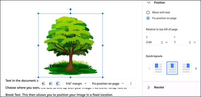Cách cố định vị trí của hình ảnh trong Google Docs - Ảnh minh hoạ 8