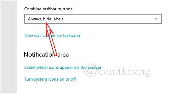 Chỉnh thanh Taskbar trong Settings