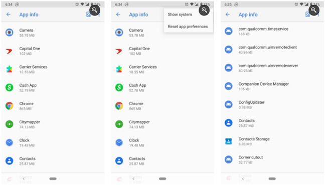 Xóa cache và bộ nhớ của ứng dụng Contacts storage và Google Contacts sync