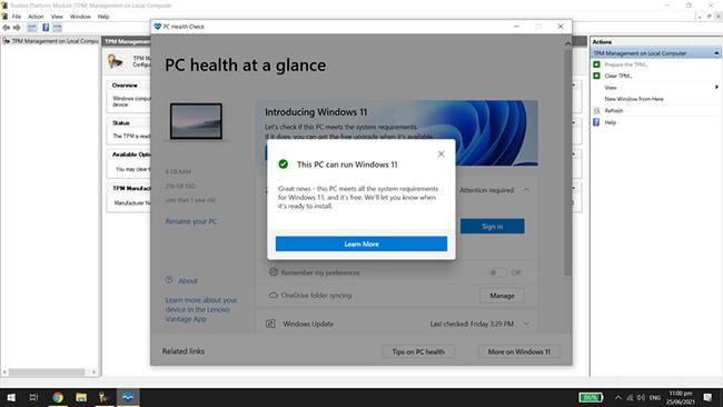 PC Health Check giúp kiểm tra xem máy tính của bạn có thể nâng cấp không