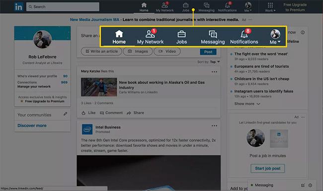LinkedIn cung cấp rất nhiều tính năng hữu ích