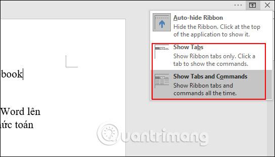 Cách ẩn hiện thanh công cụ Ribbon trong Word - Ảnh minh hoạ 5