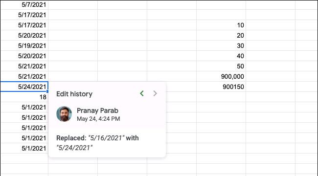 Cách xem lịch sử chỉnh sửa của một ô trong Google Sheets - Ảnh minh hoạ 3