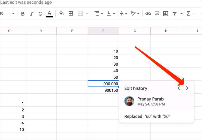 Cách xem lịch sử chỉnh sửa của một ô trong Google Sheets - Ảnh minh hoạ 5