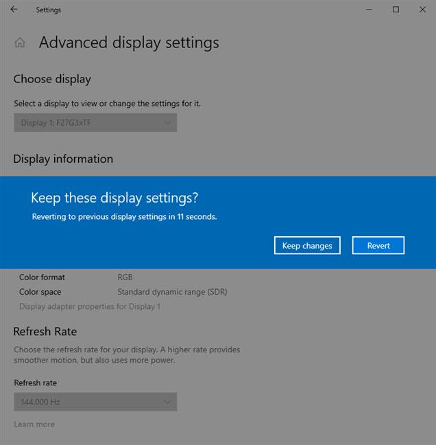 Tìm tốc độ refresh Windows 10 ở đâu? Làm thế nào để thay đổi tốc độ refresh Windows 10?