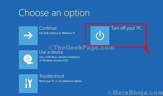Nhấp vào Turn off your PC