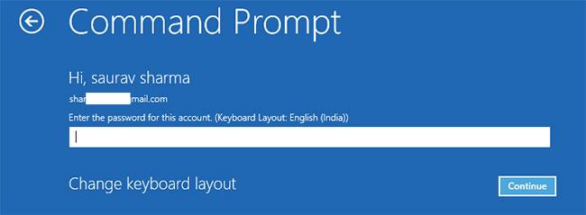 Đặt mật khẩu tài khoản để truy cập vào terminal CMD