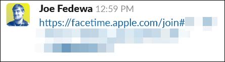 Liên kết đến địa chỉ facetime.apple.com