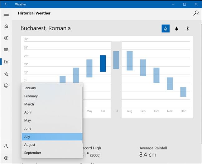 6 điều có thể làm với ứng dụng Weather trên Windows 10