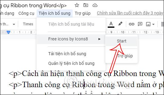 Cách tích hợp Icons8 vào Google Docs - Ảnh minh hoạ 3