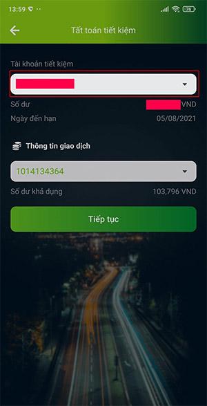Cách tất toán tài khoản tiết kiệm online Vietcombank