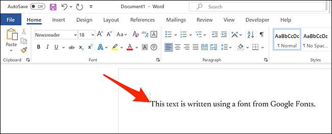 Cách sử dụng phông chữ Google (Google Fonts) trong Microsoft Word - Ảnh minh hoạ 10