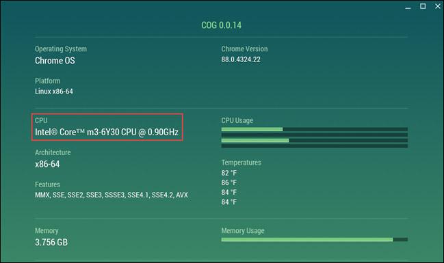 Thông tin CPU