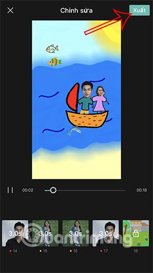 Cách tạo video Cùng anh băng qua đại dương TikTok - Ảnh minh hoạ 7