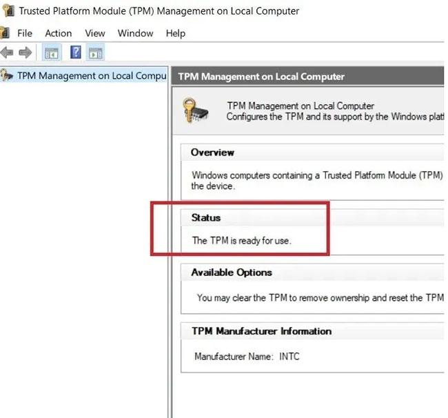 Phải xác minh thiết bị Windows 8/8.1 có TPM 1.2 hay không