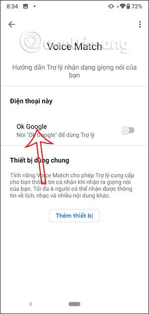 Tắt OK Google