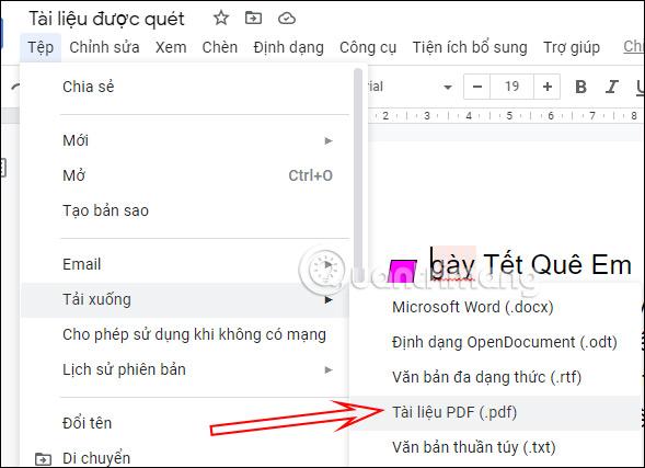 Cách tạo file PDF từ Google Docs - Ảnh minh hoạ 2