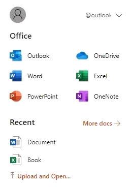 Danh sách các ứng dụng có sẵn và tài liệu office