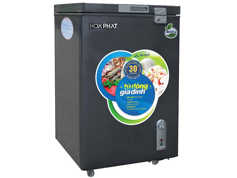 Tủ đông mini Hòa Phát HCF 106S1ĐSH 100 lít dàn đồng