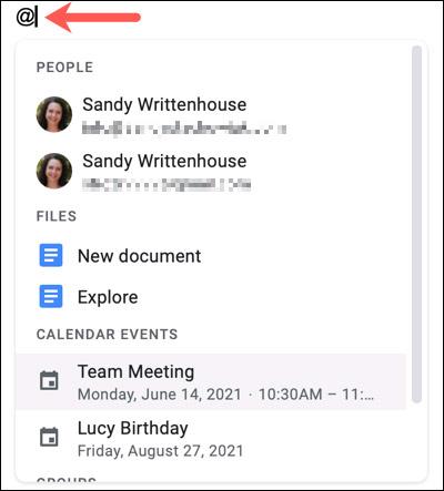Cách nhúng tệp và sự kiện trong lịch vào tài liệu Google Docs