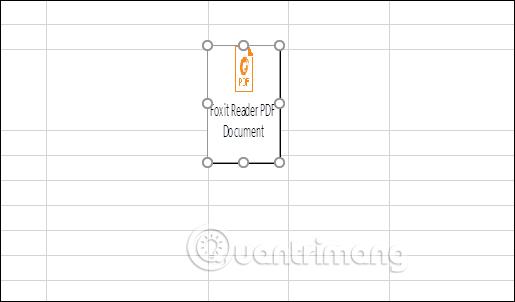 cách chèn file pdf vào excel