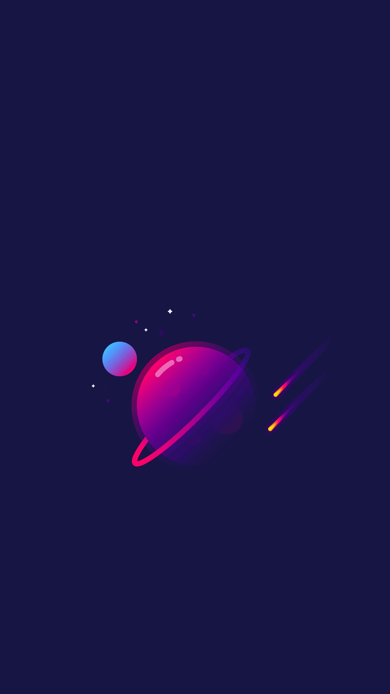 hình nền vũ trụ cute