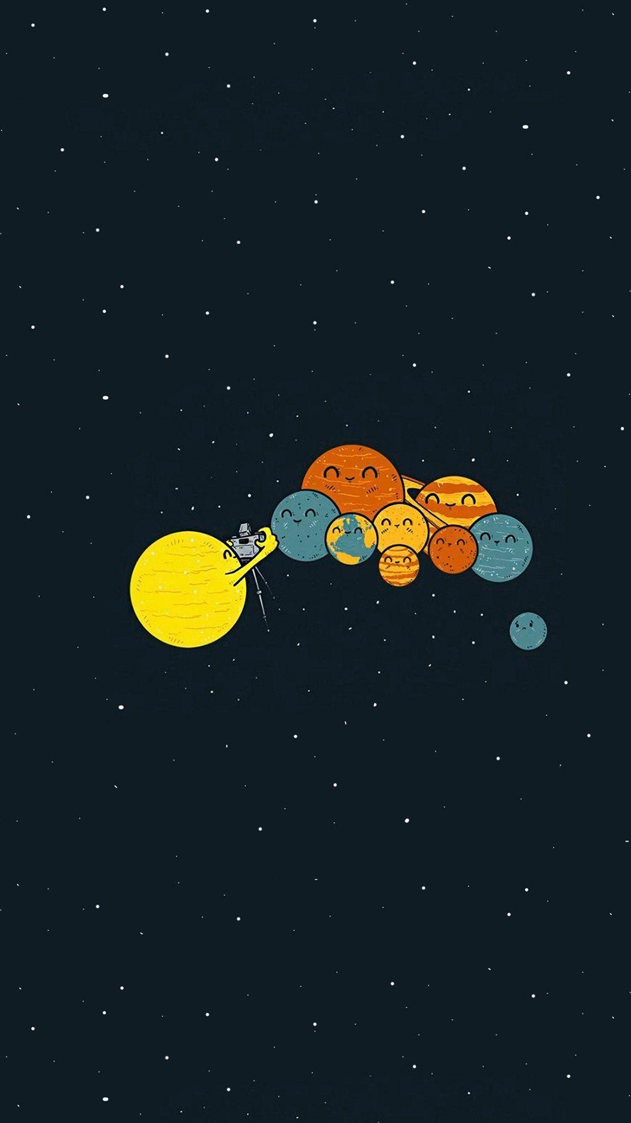 ảnh nền vũ trụ cute