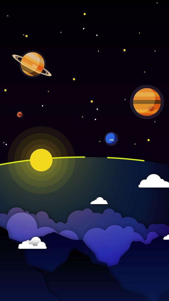 ảnh nền vũ trụ cute cho iphone x
