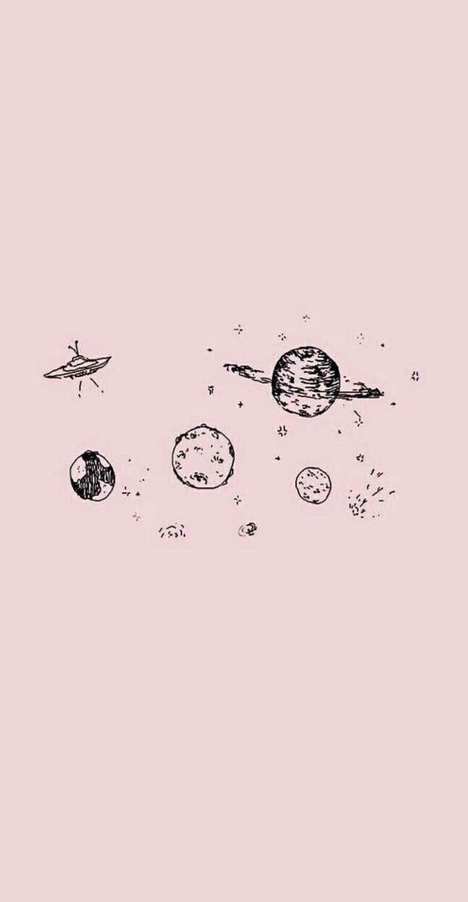 hình nền vũ trụ dễ thương đẹp