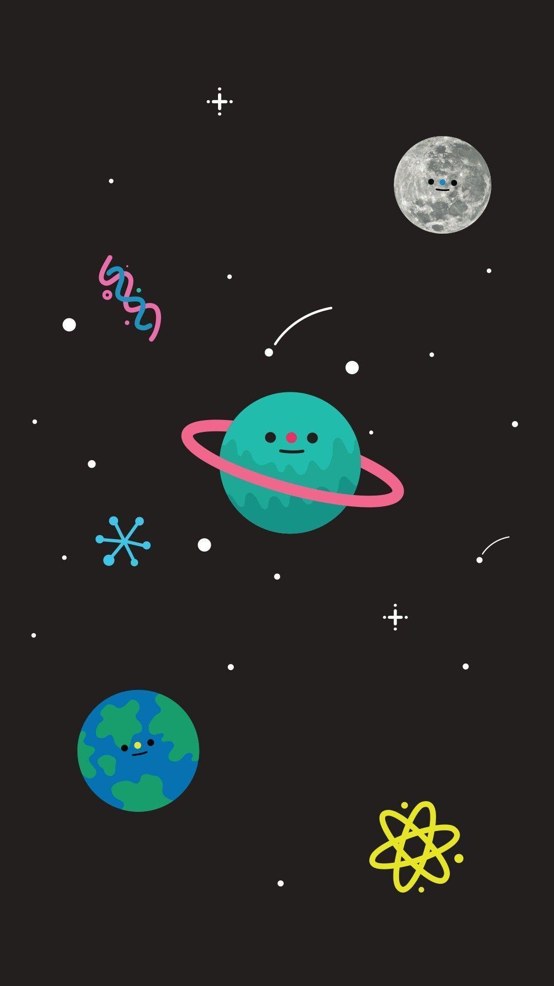 hình nền vũ trụ dễ thương 4k