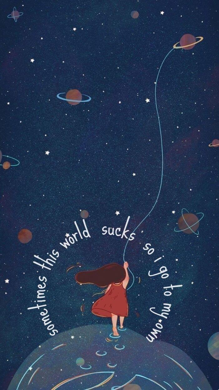 hình nền vũ trụ cute đẹp