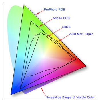 sRGB, Adobe RGB và ProPhoto RGB.