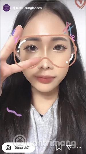 Cách tải filter đeo kính mặt nạ lấp lánh trên Instagram - Ảnh minh hoạ 5