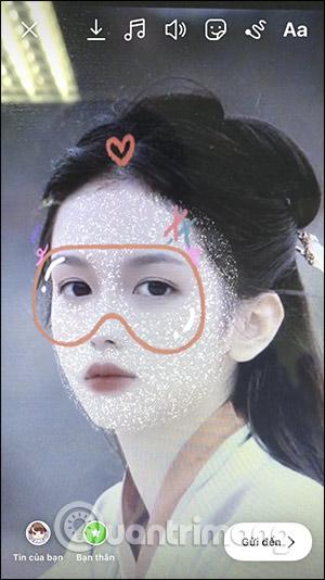 Cách tải filter đeo kính mặt nạ lấp lánh trên Instagram - Ảnh minh hoạ 8