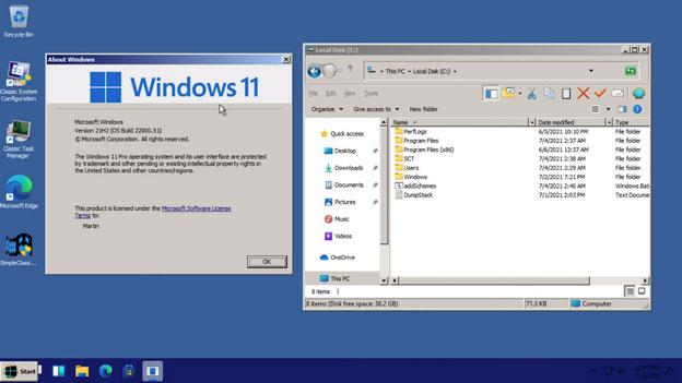 Windows 11 với giao diện Classic Theme huyền thoại 1