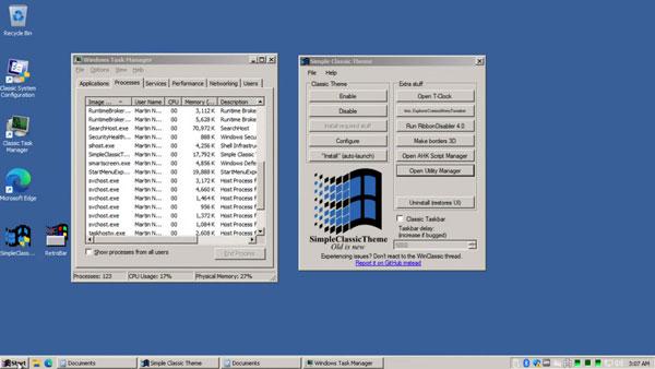 Windows 11 với giao diện Classic Theme huyền thoại 3
